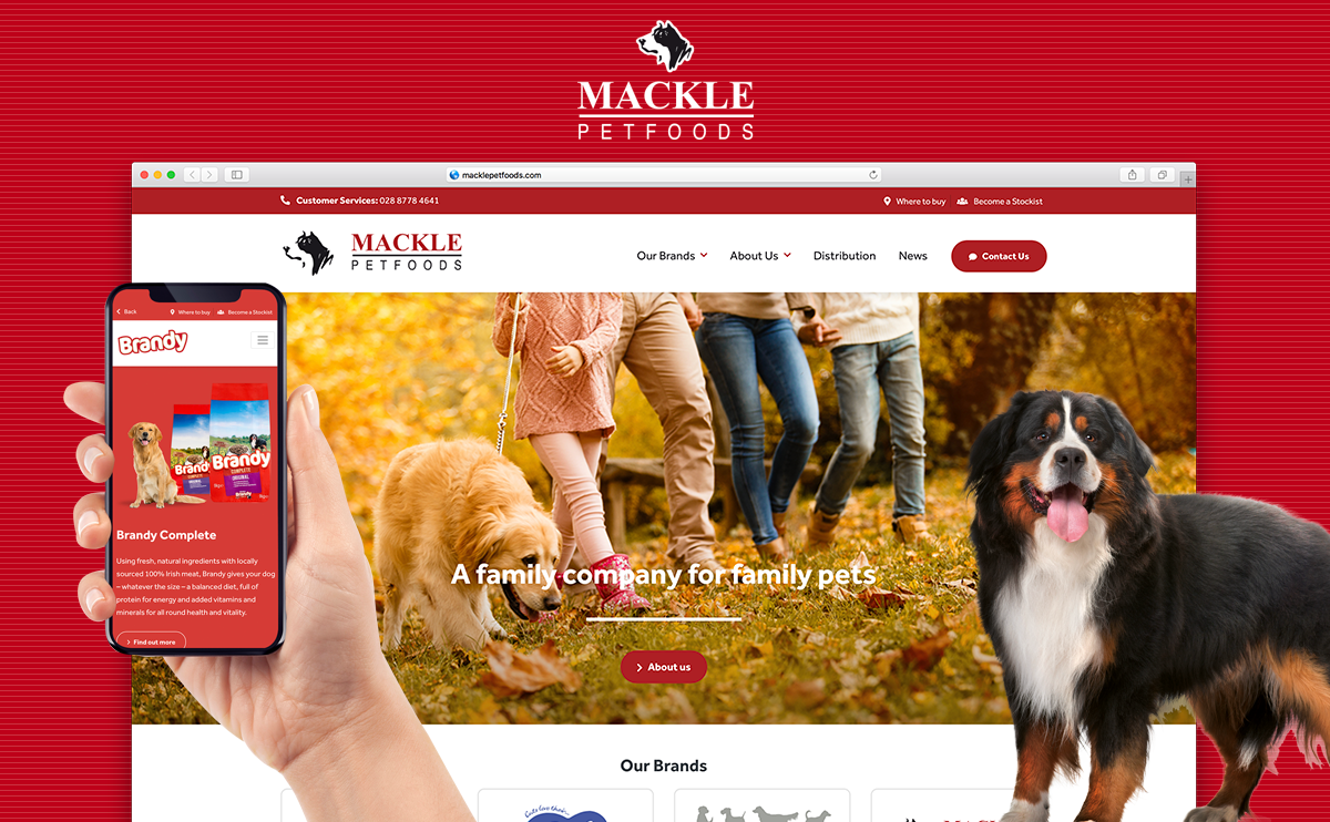 New Mackle Petfoods Website launched