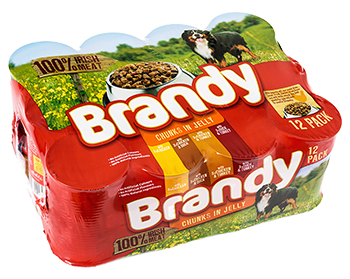 Brandy Chunks In Jelly 12 Pack